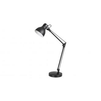 RABALUX 6408 | Carter-RA Rabalux asztali lámpa 58cm kapcsoló elforgatható alkatrészek 1x E14 matt fekete