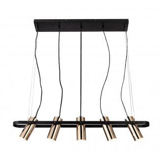 RABALUX 6430 | Raven-RA Rabalux függeszték lámpa elforgatható alkatrészek 1x LED 2000lm 3000K matt fekete, arany