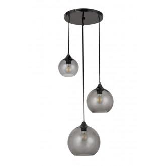 RABALUX 6439 | Tanesha Rabalux függeszték lámpa 3x E27 fekete, füst