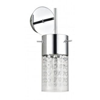 RABALUX 6449 | Waterfall Rabalux falikar lámpa 1x E14 króm, áttetsző, átlátszó