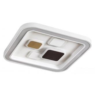 RABALUX 6475 | Hollis Rabalux mennyezeti lámpa négyszögletes távirányító szabályozható fényerő, állítható színhőmérséklet 1x LED 2400lm 3000 <-> 6000K fehér, arany, kávé