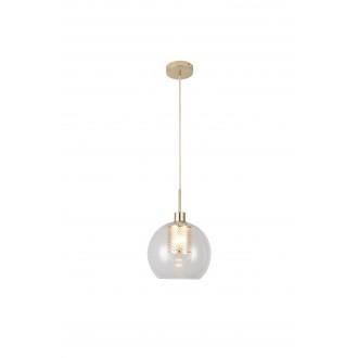 RABALUX 6495 | Philana Rabalux függeszték lámpa 1x E27 arany, átlátszó