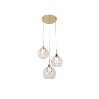 RABALUX 6496 | Philana Rabalux függeszték lámpa 3x E27 arany, átlátszó