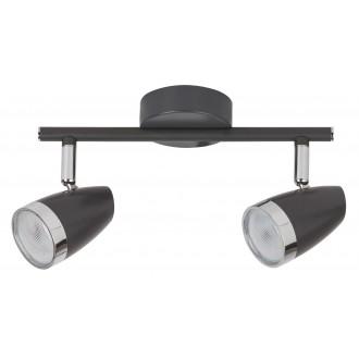RABALUX 6513 | Rabalux spot lámpa elforgatható alkatrészek 2x LED 560lm 3000K antracit, króm, átlátszó