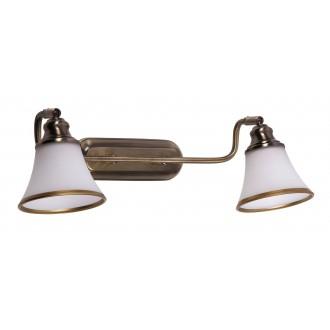 RABALUX 6546 | Grando Rabalux falikar lámpa elforgatható alkatrészek 2x E14 / R50 bronz, fehér