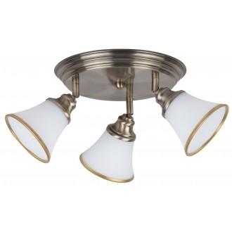 RABALUX 6548 | Grando Rabalux mennyezeti lámpa elforgatható alkatrészek 3x E14 / R50 bronz, fehér