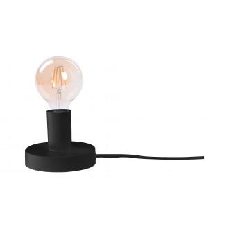 RABALUX 6569 | Bowie Rabalux asztali lámpa 9,5cm vezeték kapcsoló 1x E27 fekete