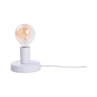 RABALUX 6570 | Bowie Rabalux asztali lámpa 9,5cm vezeték kapcsoló 1x E27 fehér