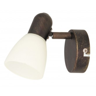RABALUX 6591   Soma1 Rabalux spot lámpa elforgatható alkatrészek 1x E14 antikolt barna, krémszín