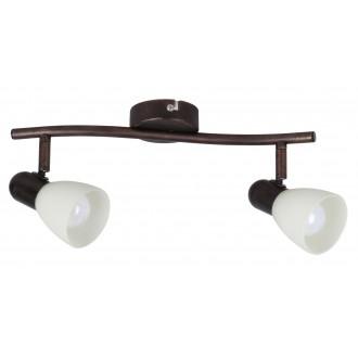RABALUX 6592 | Soma1 Rabalux spot lámpa elforgatható alkatrészek 2x E14 antikolt barna, krémszín