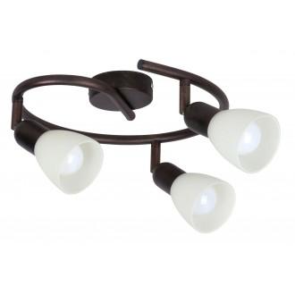 RABALUX 6593 | Soma1 Rabalux spot lámpa elforgatható alkatrészek 3x E14 antikolt barna, krémszín