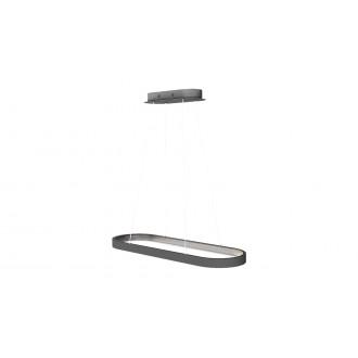 RABALUX 6679 | Athos Rabalux függeszték lámpa 1x LED 4854lm 4000K szürke, fehér