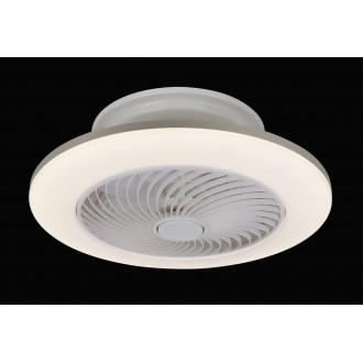 RABALUX 6710 | Dalfon Rabalux mennyezeti ventilátoros lámpa kerek távirányító szabályozható fényerő, állítható színhőmérséklet, időkapcsoló 1x LED 2100lm 3000 <-> 6000K fehér