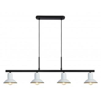 RABALUX 6789 | Maliet Rabalux függeszték lámpa 4x E14 fehér, fekete
