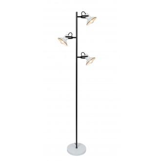 RABALUX 6790 | Maliet Rabalux álló lámpa 154cm vezeték kapcsoló elforgatható alkatrészek 3x E14 fehér, fekete