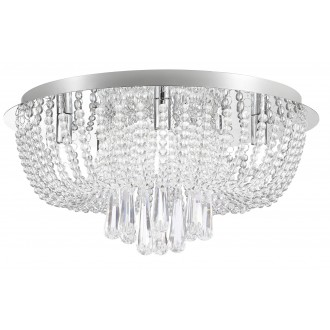 RABALUX 6806 | Larisha Rabalux mennyezeti lámpa 6x G9 króm, kristály