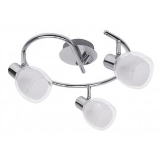 RABALUX 6837 | Dave Rabalux spot lámpa elforgatható alkatrészek 3x E14 króm, fehér, átlátszó