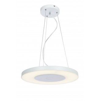 RABALUX 6879 | Milton-RA Rabalux függeszték lámpa kerek távirányító szabályozható fényerő 1x LED 2000lm 4000K fehér, opál