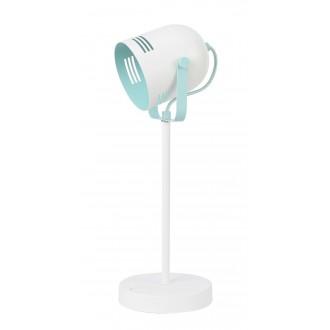 RABALUX 7015 | Minuet Rabalux asztali lámpa 40cm kapcsoló elforgatható alkatrészek 1x E14 fehér, menta