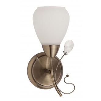 RABALUX 7041 | Susan Rabalux falikar lámpa 1x E27 bronz, fehér, átlátszó