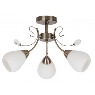 RABALUX 7043 | Susan Rabalux mennyezeti lámpa 3x E27 bronz, fehér, átlátszó