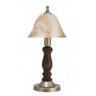 RABALUX 7092 | Rustic3 Rabalux asztali lámpa 37,5cm vezeték kapcsoló 1x E14 bronz, dió, barna alabástrom
