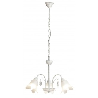 RABALUX 7107 | Bernadette Rabalux csillár lámpa 3x E14 antikolt ezüst, fehér