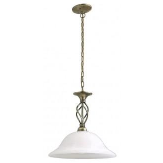 RABALUX 7136 | Beckworth Rabalux függeszték lámpa 1x E27 bronz, fehér alabástrom