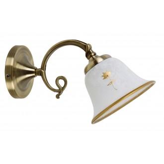 RABALUX 7171 | Art-Flower Rabalux fali lámpa 1x E14 fehér alabástrom, bronz