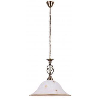 RABALUX 7176 | Art-Flower Rabalux függeszték lámpa 1x E27 fehér alabástrom, bronz