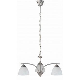 RABALUX 7203 | Tristan Rabalux csillár lámpa 3x E14 matt króm, fehér alabástrom