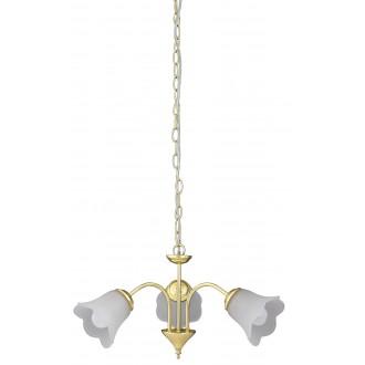 RABALUX 7233 | Rafaella Rabalux csillár lámpa 3x E14 arany, fehér