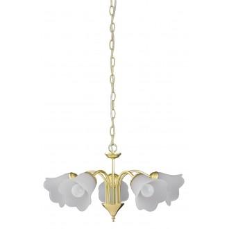 RABALUX 7235 | Rafaella Rabalux csillár lámpa 5x E14 arany, fehér