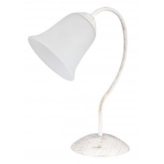 RABALUX 7260 | FabiolaR Rabalux asztali lámpa 36cm vezeték kapcsoló 1x E27 antikolt fehér, opál