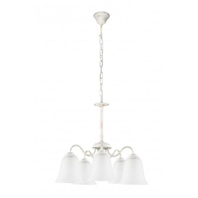 RABALUX 7261 | FabiolaR Rabalux csillár lámpa 5x E27 antikolt fehér, opál