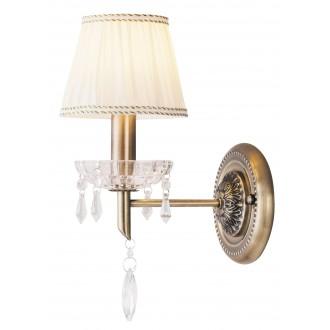 RABALUX 7278 | ClaudiaR Rabalux falikar lámpa 1x E14 bronz, fehér, átlátszó