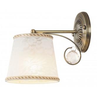 RABALUX 7290 | Valerie Rabalux falikar lámpa 1x E14 bronz, fehér, átlátszó