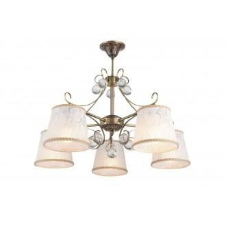 RABALUX 7291 | Valerie Rabalux csillár lámpa 5x E14 bronz, fehér, átlátszó