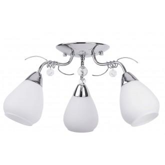 RABALUX 7293 | Faith-light Rabalux mennyezeti lámpa 3x E14 króm, fehér, átlátszó