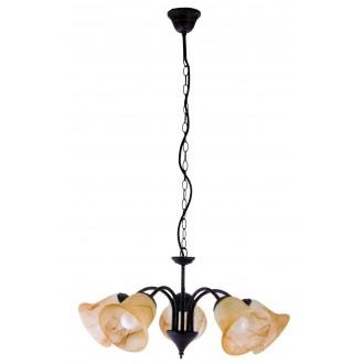RABALUX 7368 | Colette Rabalux csillár lámpa 5x E14 antikolt barna, barna alabástrom