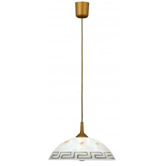 RABALUX 7652 | Etrusco Rabalux függeszték lámpa 1x E27 sárgaréz, fehér, minta
