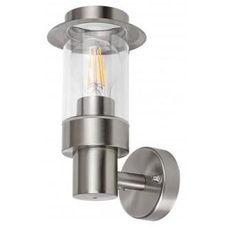 RABALUX 7838 | Warsaw Rabalux falikar lámpa 1x E27 IP44 szatén króm, átlátszó