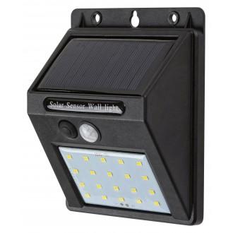 RABALUX 7880 | Ostrava Rabalux fali lámpa mozgásérzékelő napelemes/szolár 1x LED 100lm 4000K IP44 fekete