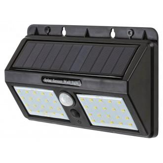 RABALUX 7881 | Ostrava Rabalux fali lámpa mozgásérzékelő napelemes/szolár 1x LED 225lm 4000K IP44 fekete