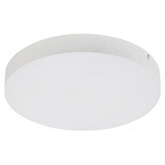 RABALUX 7893 | Tartu Rabalux mennyezeti lámpa kerek állítható színhőmérséklet 1x LED 1800lm 2800 - 4000 - 6000K IP44 matt fehér, fehér