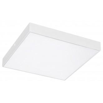 RABALUX 7896 | Tartu Rabalux mennyezeti lámpa négyzet állítható színhőmérséklet 1x LED 2500lm 2800 - 4000 - 6000K IP44 matt fehér, fehér