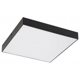RABALUX 7899 | Tartu Rabalux mennyezeti lámpa négyzet állítható színhőmérséklet 1x LED 1800lm 2800 - 4000 - 6000K IP44 matt fekete, fehér