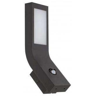 RABALUX 7911   Saldus Rabalux falikar lámpa mozgásérzékelő 1x LED 600lm 3000K IP44 matt fekete, fehér