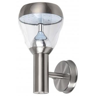RABALUX 7919   Amalfi-RA Rabalux falikar lámpa 1x LED 760lm 4000K IP44 szatén króm, átlátszó