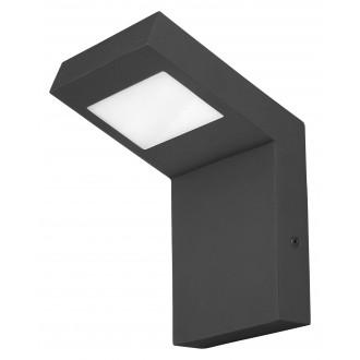 RABALUX 7925   Lima-RA Rabalux fali lámpa 1x LED 600lm 3000K IP44 matt fekete, fehér